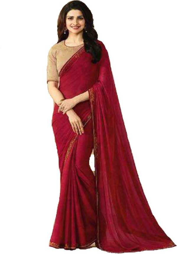 085cff216467c Buy Style Amaze Embroidered Daily Wear Georgette Red Sarees Online ...