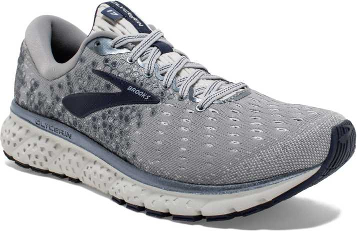 7a18b9e55eaff Brooks Glycerin 17 Synthetic Grey Running Shoes For Men - Buy Brooks ...