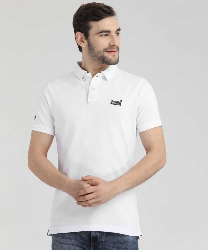 80a36391 Superdry Solid Men Polo Neck White T-Shirt - Buy Superdry Solid Men Polo  Neck White T-Shirt Online at Best Prices in India | Flipkart.com