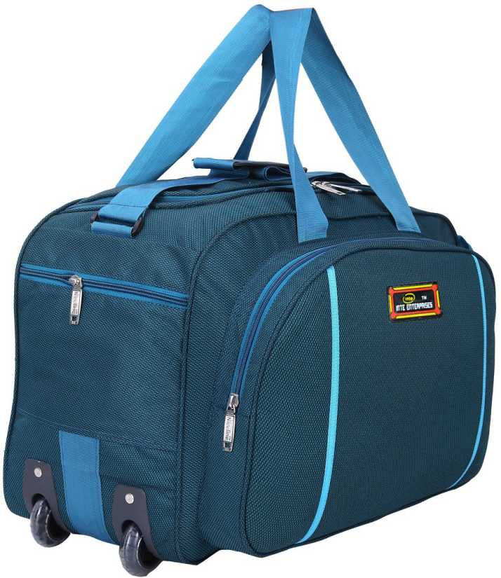 2cc624f5d5 Inte Enterprises (Expandable) INTE233 Duffel Strolley Bag PEACOCK ...