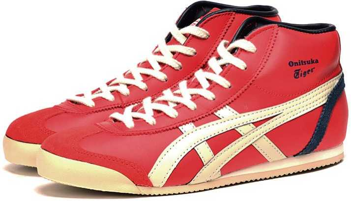 best website 3fcaa bbf63 Onitsuka Tiger Mexico 66 High Top Red Beige Sneakers For Men ...