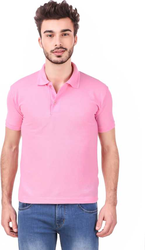 72ca7a714b ANIXA Solid Men Polo Neck Pink T-Shirt - Buy ANIXA Solid Men Polo Neck Pink  T-Shirt Online at Best Prices in India   Flipkart.com