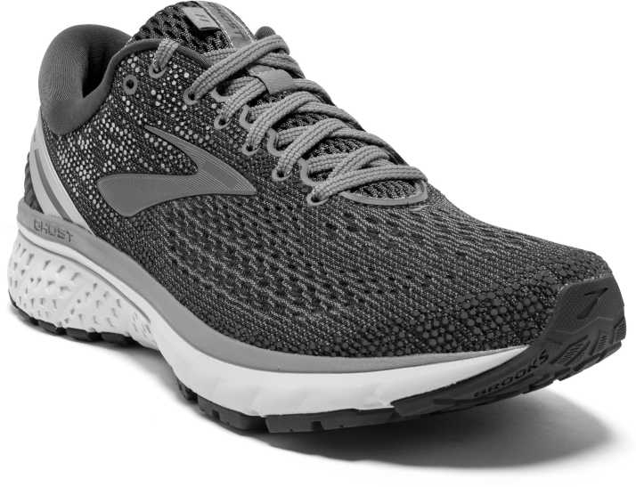 Brooks Ghost 11 Synthetic Grey Running Shoes For Men Buy