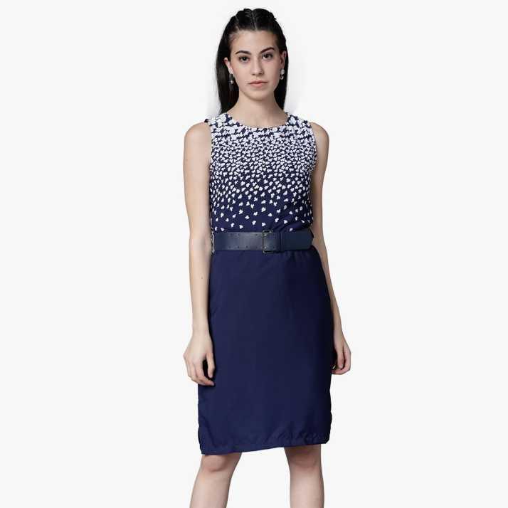 0cb50f54a3f Tokyo Talkies Women Sheath Dark Blue Dress - Buy TOKYO TALKIES Tokyo  Talkies Women Sheath Dark Blue Dress Online at Best Prices in India