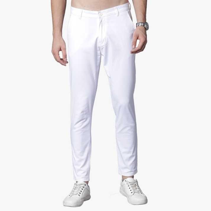 c4e65717c312 Highlander Slim Fit Men s White Trousers - Buy WHITE Highlander Slim Fit Men s  White Trousers Online at Best Prices in India