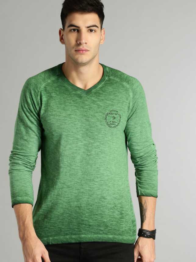 9bd94d61b54290 Roadster Tie & Dye Men V-neck Green T-Shirt - Buy Roadster Tie & Dye Men V- neck Green T-Shirt Online at Best Prices in India | Flipkart.com