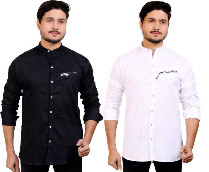 4401dee4c7df Smart Boy's Men's Solid Casual Black, White Shirt - Buy Smart Boy's Men's  Solid Casual Black, White Shirt Online at Best Prices in India |  Flipkart.com