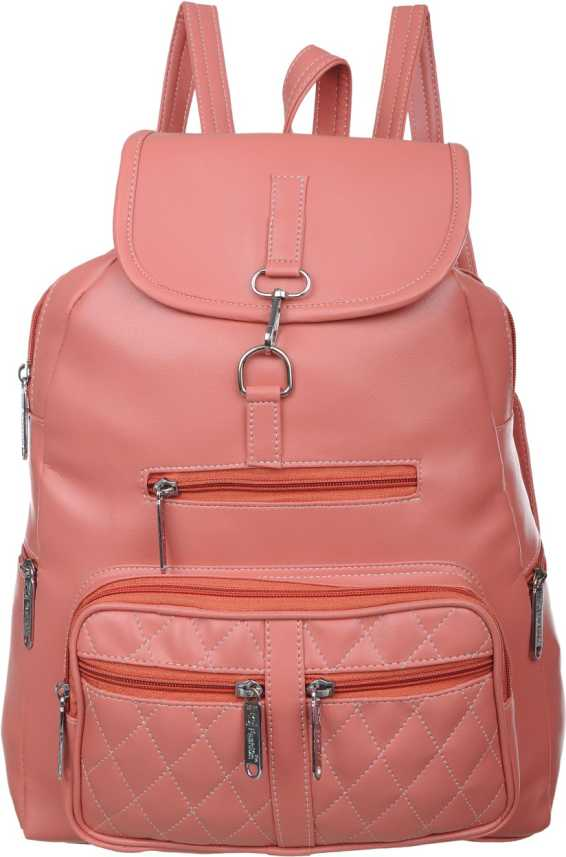 ef061ba544be42 FD Fashion Soft college backpack for girls::backpack women college bags::Branded  backpack::Backpack for girls and women::Women Backpack 15 L Backpack (Pink)