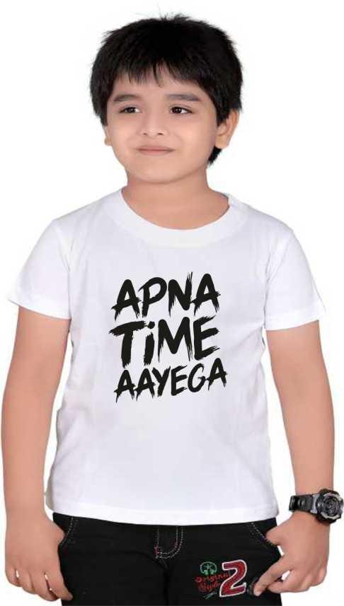 YouWe Fashion Boys & Girls Graphic Print Polycotton T Shirt