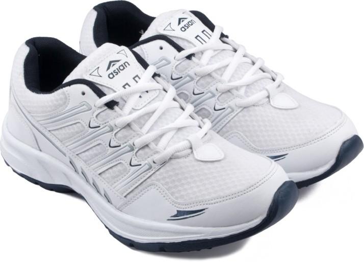 Asian Running Shoes For Men - Buy White