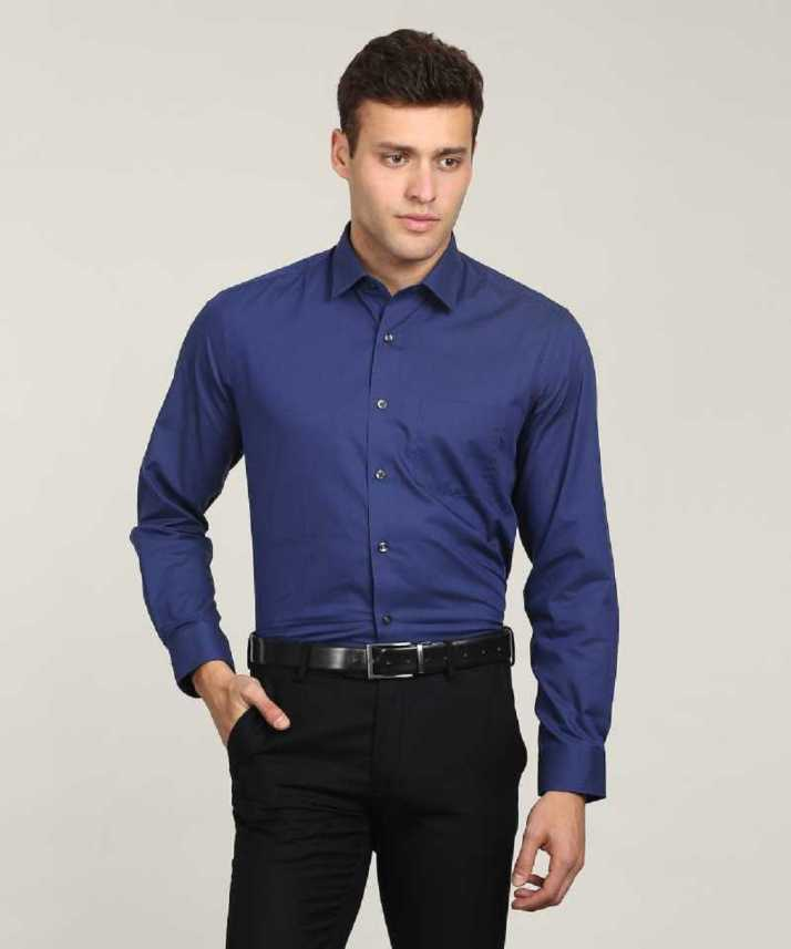 3fed44923e4 CLUB WEAR Men Solid Formal Blue Shirt - Buy CLUB WEAR Men Solid ...