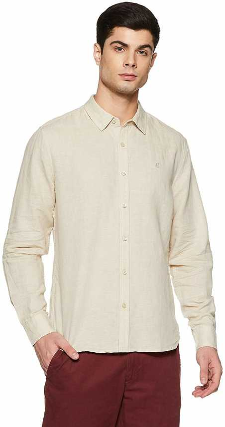 074f5c85789 CLUB WEAR Men Solid Formal Cream Shirt - Buy CLUB WEAR Men Solid ...