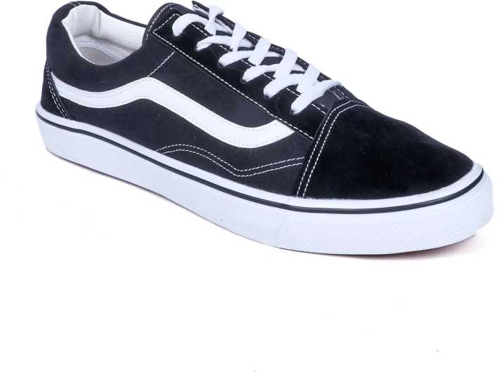 05355acc18 vans old skool Midnight Black Canvas Shoes For Men - Buy vans old ...