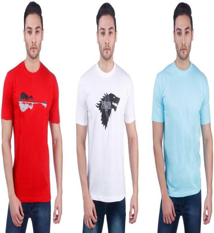 3d572efd6 NEBRASKA Printed Men Round Neck Multicolor T-Shirt - Buy NEBRASKA ...