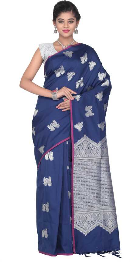 00eb724aa1 Buy KEYA SETH EXCLUSIVE Woven Fashion Pure Silk Blue Sarees Online @ Best  Price In India | Flipkart.com