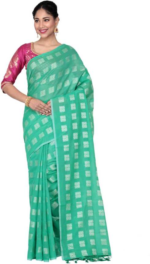 db15af89f2 Buy KEYA SETH EXCLUSIVE Woven Handloom Poly Silk Green Sarees Online @ Best  Price In India | Flipkart.com