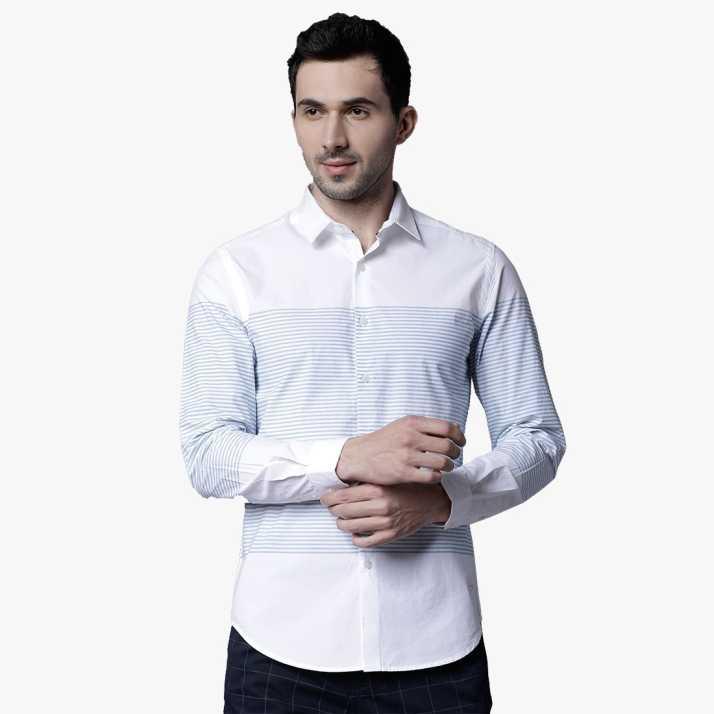 c18c55a58ca5 BLACK COFFEE Men s Solid Casual White Shirt - Buy BLACK COFFEE Men s ...