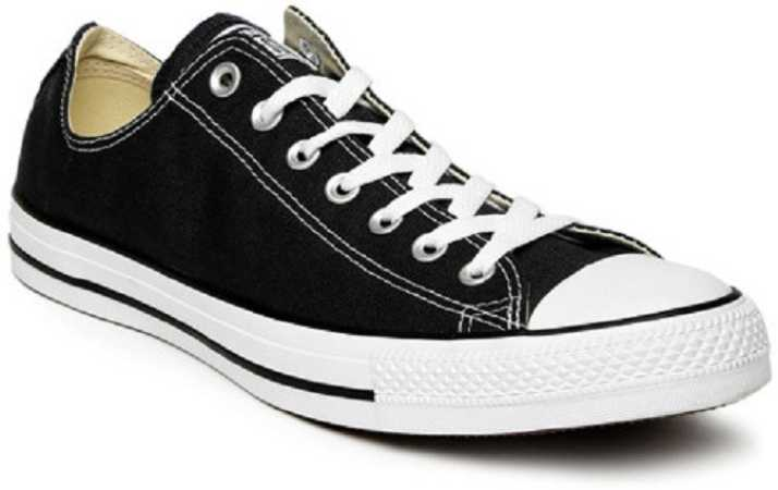 5b2f5a1d276a4c Converse All Star Chuck Taylor Black   White Canvas Shoes For Men (Black