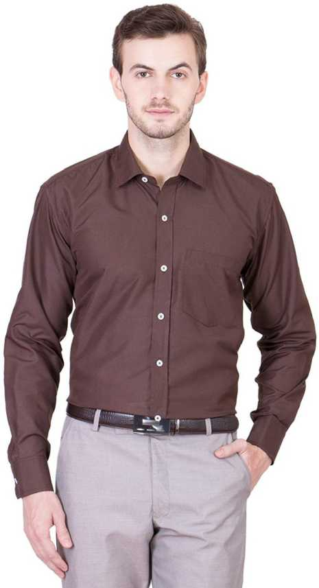 f488ac57fd9 CLUB WEAR Men Solid Casual Brown Shirt - Buy CLUB WEAR Men Solid ...
