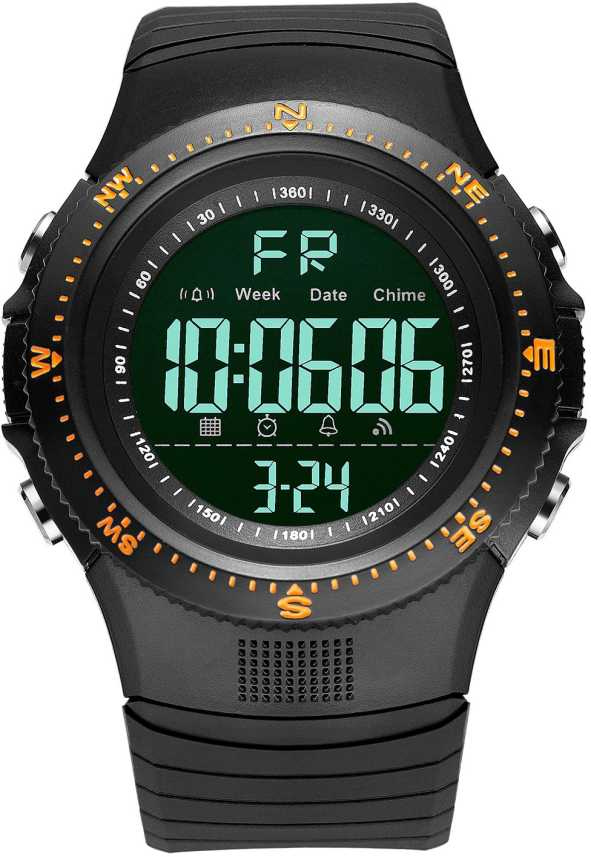 Digilog Hyper Sports Activewear Black & Orange Digital Multi