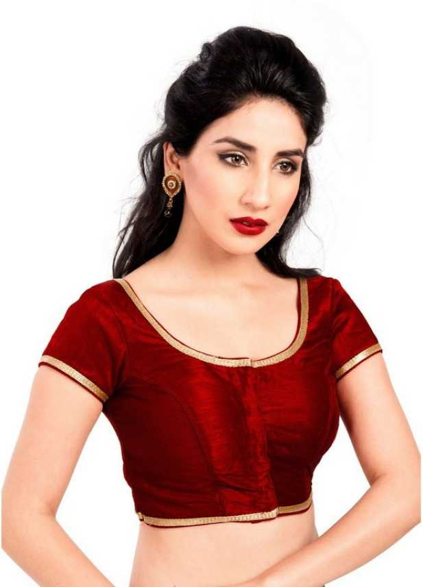 5bc5a9fc207c6a ... Blouses Round Neck Women s Stitched Blouse - Buy MAROON Vamas-The  Designer Blouses Round Neck Women s Stitched Blouse Online at Best Prices  in India ...