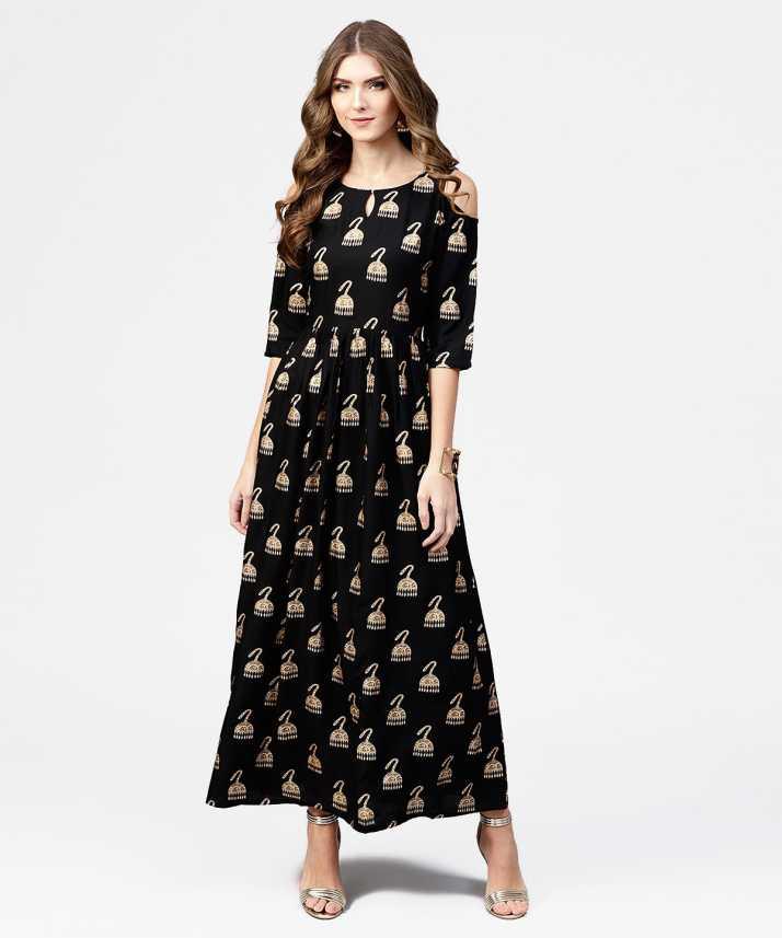 d03931201 Libas Women A-line Black Dress - Buy Libas Women A-line Black Dress Online  at Best Prices in India   Flipkart.com