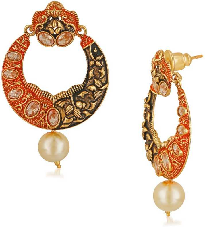 8f08668f0acb3 Flipkart.com - Buy APARA Apara Meenkari Kundan Pearl Earrings Set ...