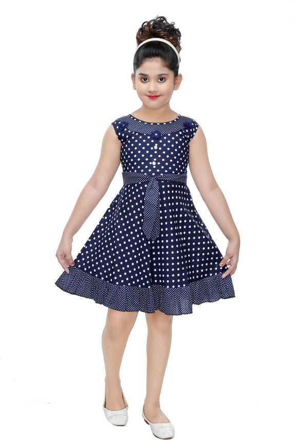 3cb0715ea16a N BAHUBALI Girls Midi/Knee Length Casual Dress (Blue, Sleeveless). Special  price