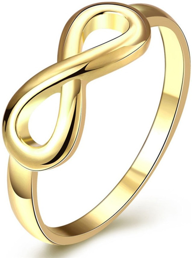 Infinity Ring Gold Plated Statement Ring Fashion Ring Hand Made oNecklace ®