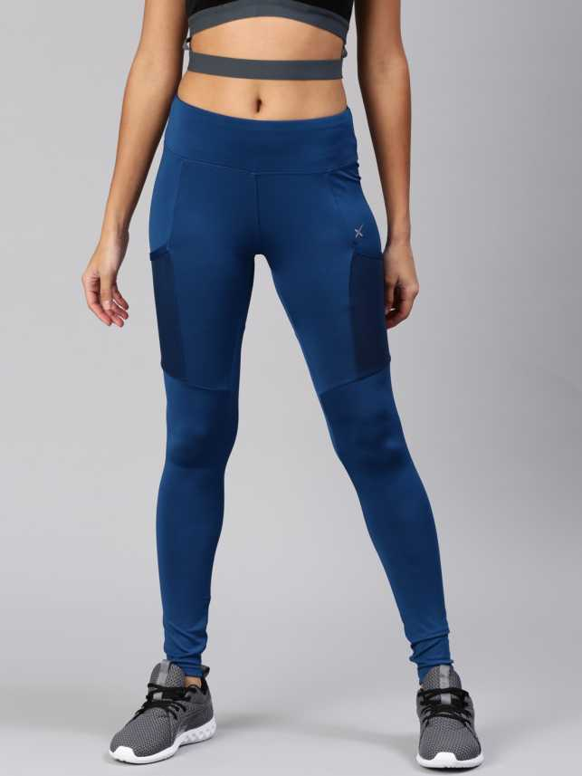91b11931e HRX by Hrithik Roshan Solid Women Blue Tights - Buy HRX by Hrithik Roshan  Solid Women Blue Tights Online at Best Prices in India
