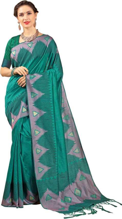 2f4440d7936f2e Buy EthnicJunction Woven Jamdani Silk Dark Blue Sarees Online   Best ...