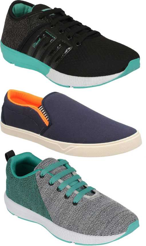 da2257024d3 Chevit Combo Pack of 3 Sports Shoes (Loafers & Shoes) Running Shoes For Men  - Buy Chevit Combo Pack of 3 Sports Shoes (Loafers & Shoes) Running Shoes  For ...