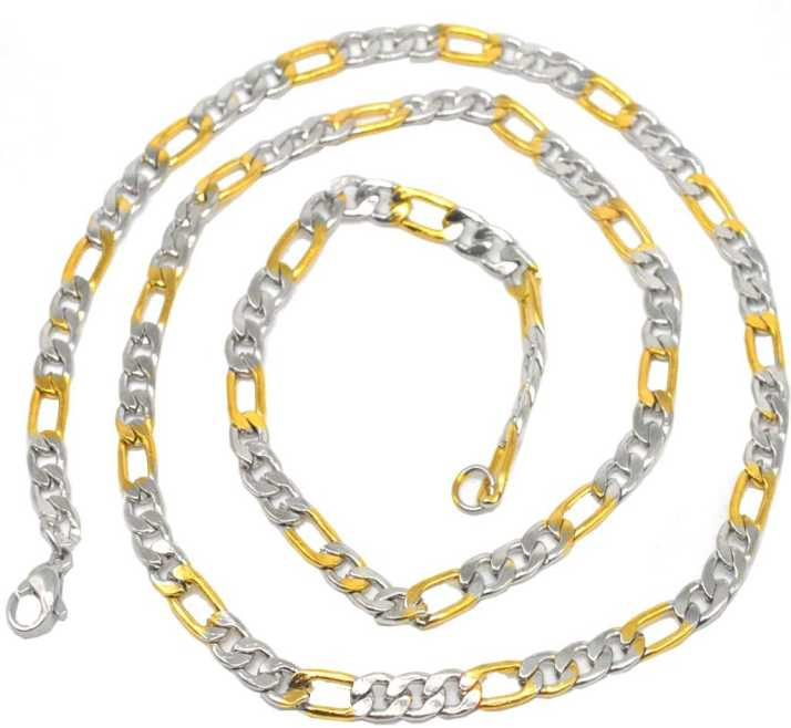 39ddc3636 Sullery 3mm Thickness Shiny Link Gold Silver Stainless Steel Chain For Men  And Women Stainless Steel Chain