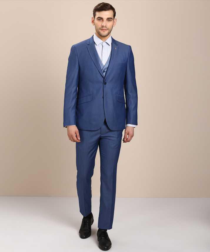 ad9d6c1104c Van Heusen 3-Piece Suit Textured Men Suit - Buy Van Heusen 3-Piece Suit  Textured Men Suit Online at Best Prices in India