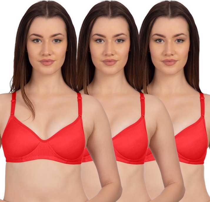 697b0381a29 Komli byBelle Lingeries Red Non Padded Full Coverage T-Shirt Bra ...