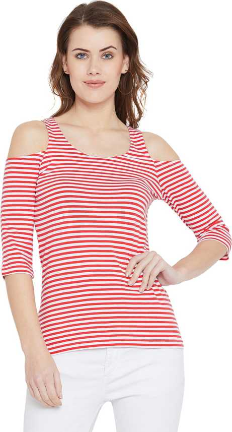 78af4603dd057 Hypernation Casual 3 4th Sleeve Striped Women s Red