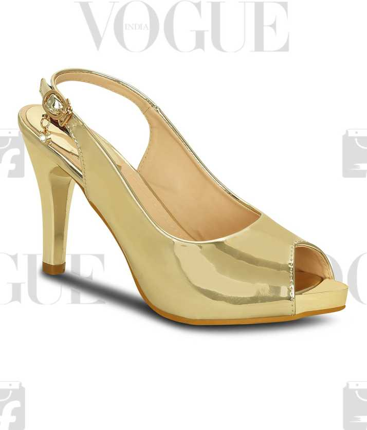 f0a939e7f3 Get Glamr Women Gold Heels - Buy Get Glamr Women Gold Heels Online at Best  Price - Shop Online for Footwears in India