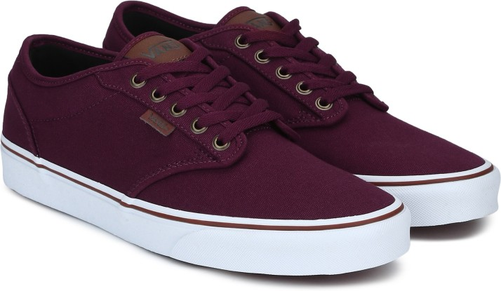 vans shoes maroon for men