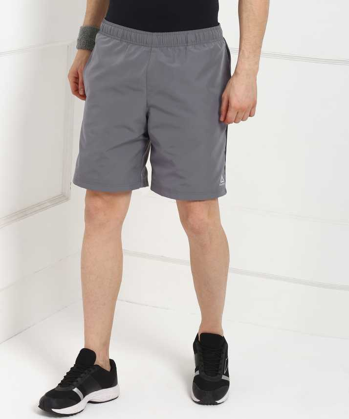 380436acf23 REEBOK Solid Men Grey Sports Shorts - Buy REEBOK Solid Men Grey Sports Shorts  Online at Best Prices in India | Flipkart.com