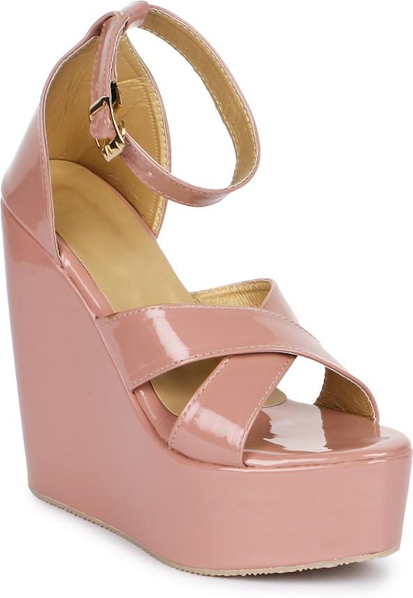 London Steps Women Pink Wedges - Buy