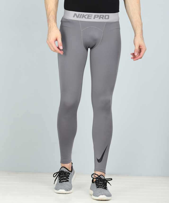 6b851d49e3874 Nike Solid Men Grey Tights - Buy Nike Solid Men Grey Tights Online at Best  Prices in India | Flipkart.com