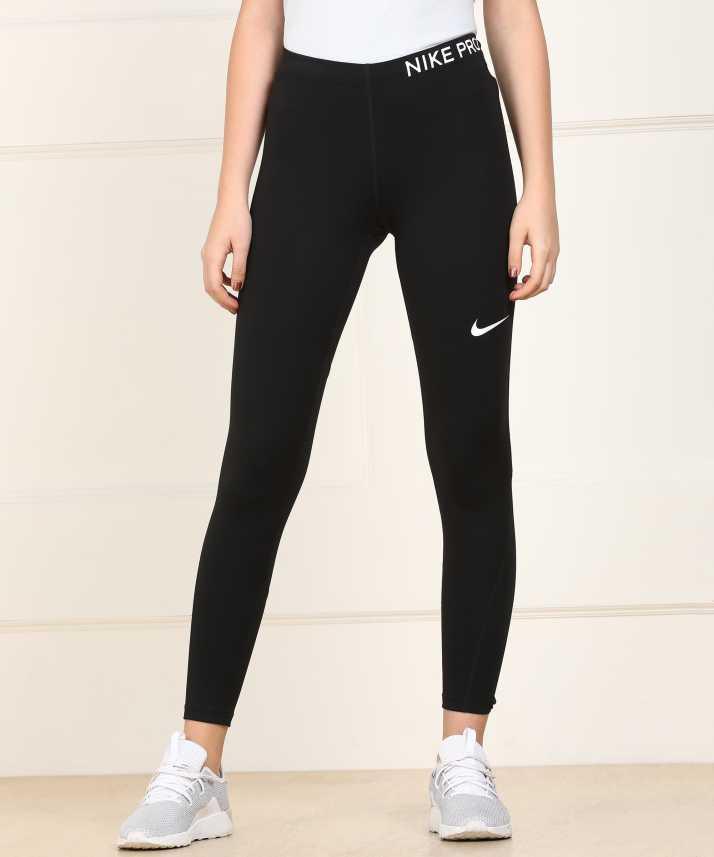 eee1d31a0 Nike Solid Women Black Tights - Buy Nike Solid Women Black Tights Online at Best  Prices in India
