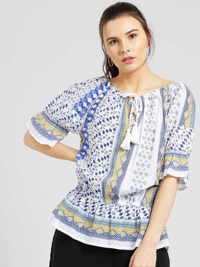 6df78491325 Miway Casual Half Sleeve Printed Women s Multicolor Top - Buy Miway ...