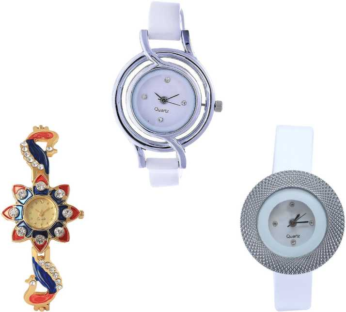 097a71d947f7 NEUTRON Brand New High Quality Peacock And Chronograph Analogue White And  Gold Color Girls And Women Watch - G50-G118-G56 (Combo Of 3 ) combo watch  Watch ...