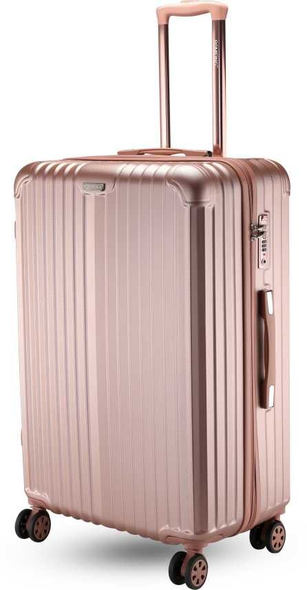 a7bd98ef1 ROMEING Hardside Spinner Luggage Check-in Trolley Bag (RoseGold) (65 cms)  Check-in Luggage - 24 inch Pink - Price in India | Flipkart.com