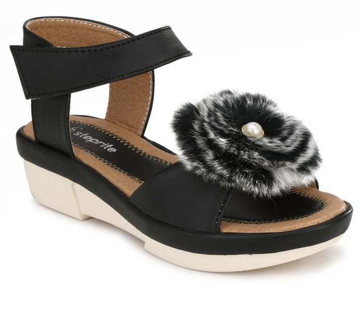 Steprite Girls Velcro Wedges Price in