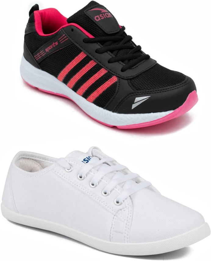 Asian PINK::WHITE Casual Shoes Casuals