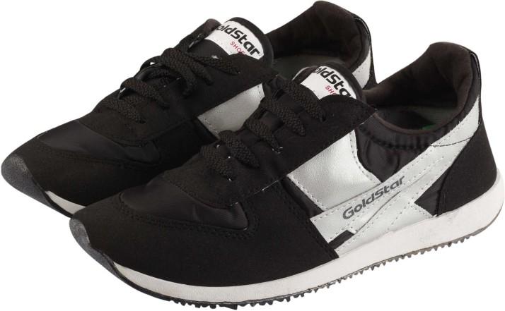 Goldstar Slip-on Black Walking Shoes