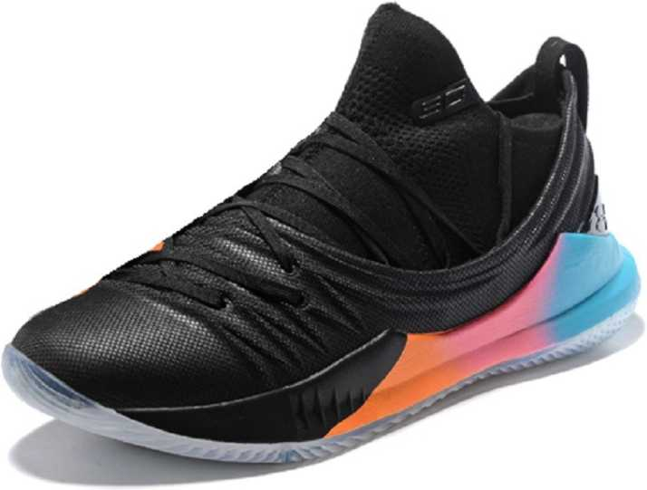 huge discount a4f1d 11382 Underarmour UA Stephen Curry 5 Black Orange Training & Gym Shoes For Men
