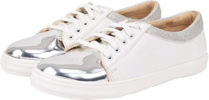 Jking Silver Metallic Glitter Sneakers